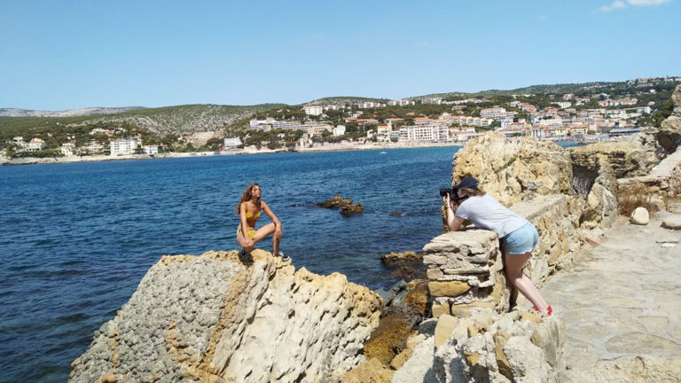 Shooting Esquisse Paris, calanques, 2019